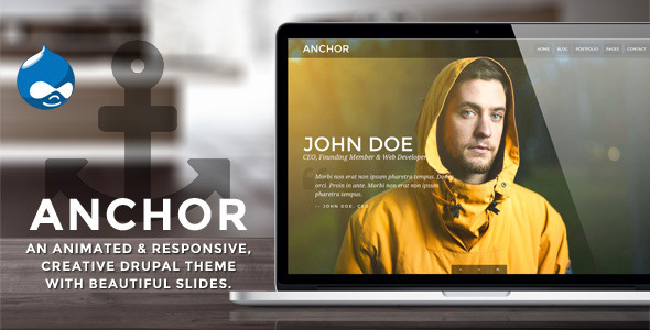 Anchor - Animated Parallax Drupal Theme