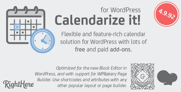 Calendarize it - for WordPress