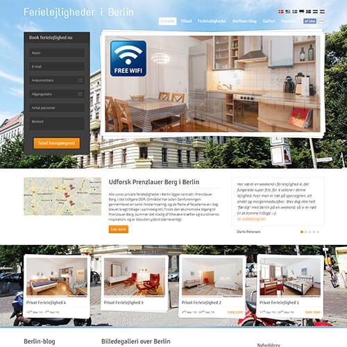 2012 – 2014<br>Ferielejligheder i Berlin<br>(hjemmeside)