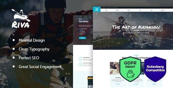 Kayaking Paddling Water Sports & Outdoors WordPress Theme