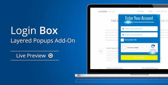 Login Box - Layered Popups Add-On