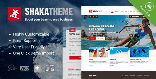 Shaka - A water sport WordPress theme.