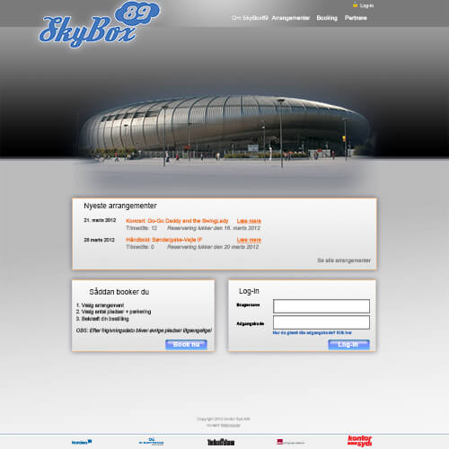 2010 <br>SkyBox89 <br>(Booking-system)